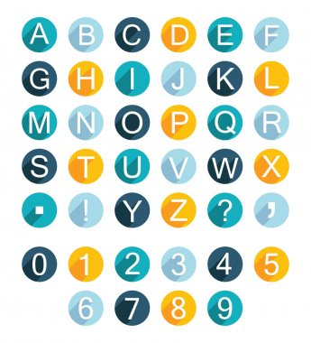 Vector Set Alphabet Icons