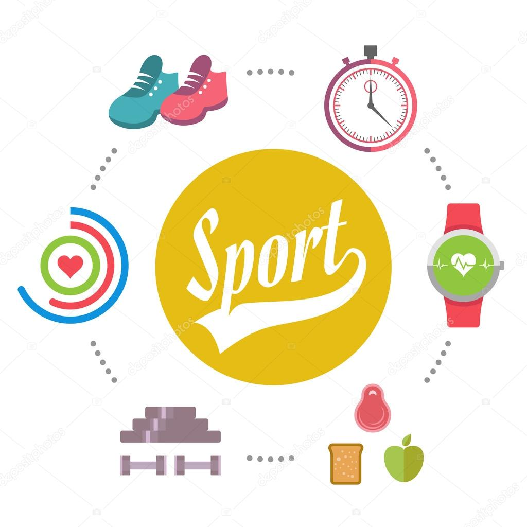 4e7e6f60a Circular concept of sports and fitness equipment icons background. Vector  illustration design. Sport equipment concept with games accessories and  sportswear ...