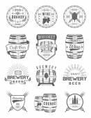 Set of Vector Cask Alcohol Emblems