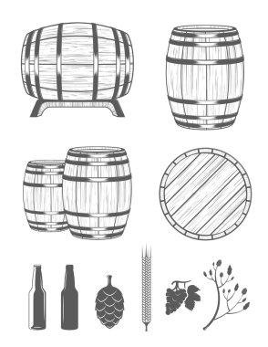 Vector Set Barrels and Design Elements