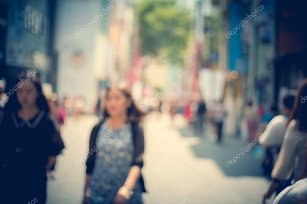 Bokeh Blurred Images Of South Korea Seoul City Street Stock Photo C Yiucheung 83105858