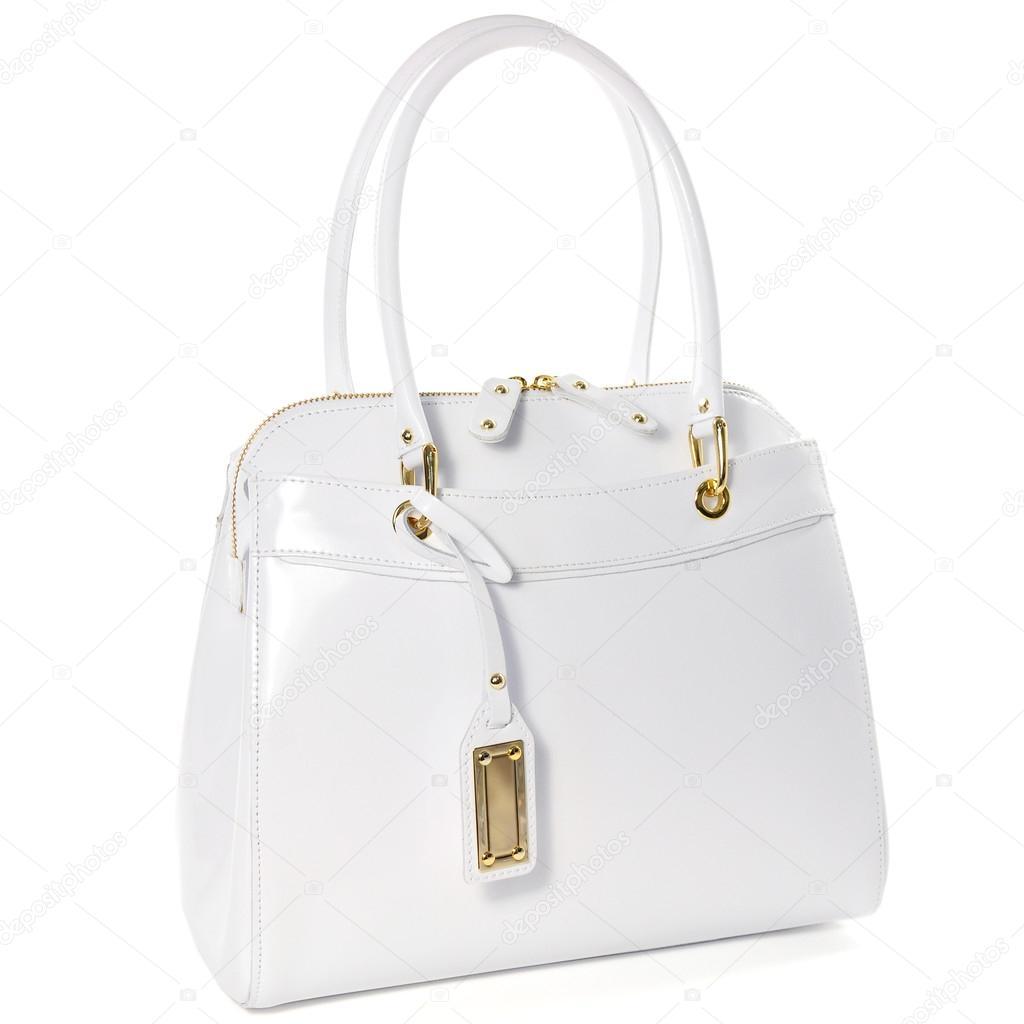 Elszigetelt fehér arany bizsu női fehér bőr táska — Fotó szerzőtől  Alekseykolotvin ce774eaf8c