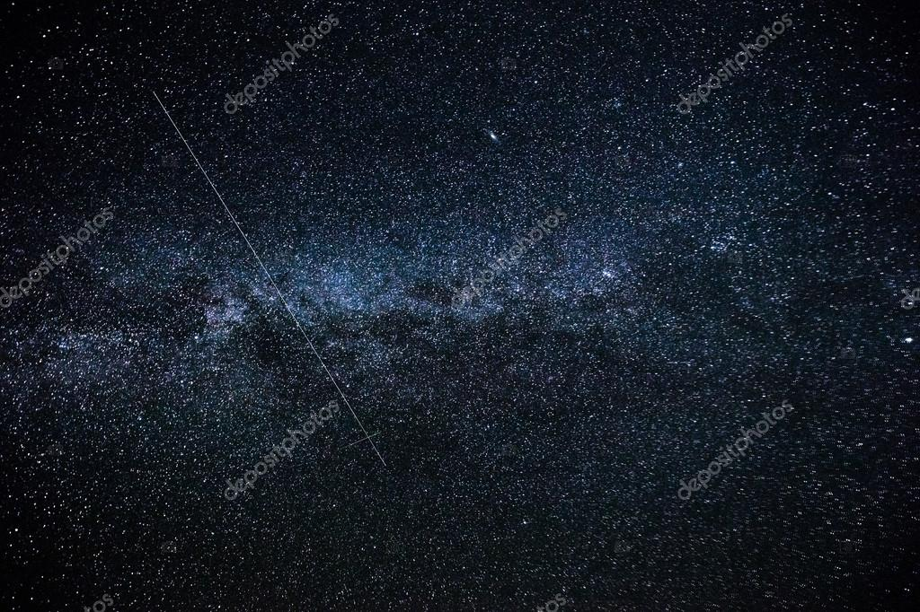 The Milky Way. Our galaxy. Long exposure photograph