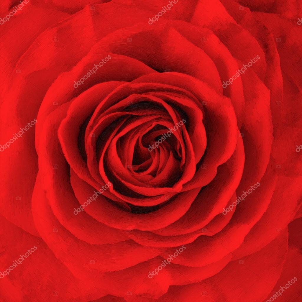Fleur Rose Peinture A L Huile Photographie Baranov Evgenii