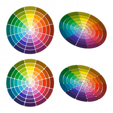 Color wheel with shade of colors. Vector icon, Color circle