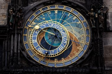 The Prague astronomical clock (Prague orloj), Czech Republic