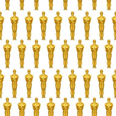 Golden statues pattern