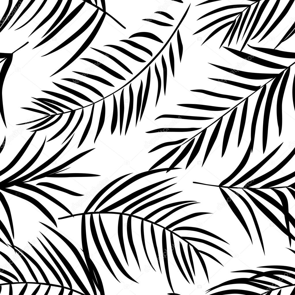 Tropical Palm Leaves Pattern Stock Vector Sonia Eps