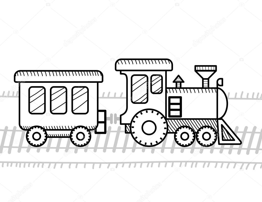 Train Coloring Book For Kids Stock Vector C Sonia Eps 105256442