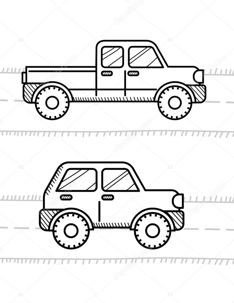 Cars coloring book for kids. — Stock Vector © sonia_eps ...
