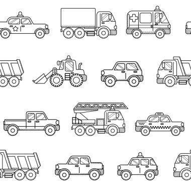 Seamless pattern cars