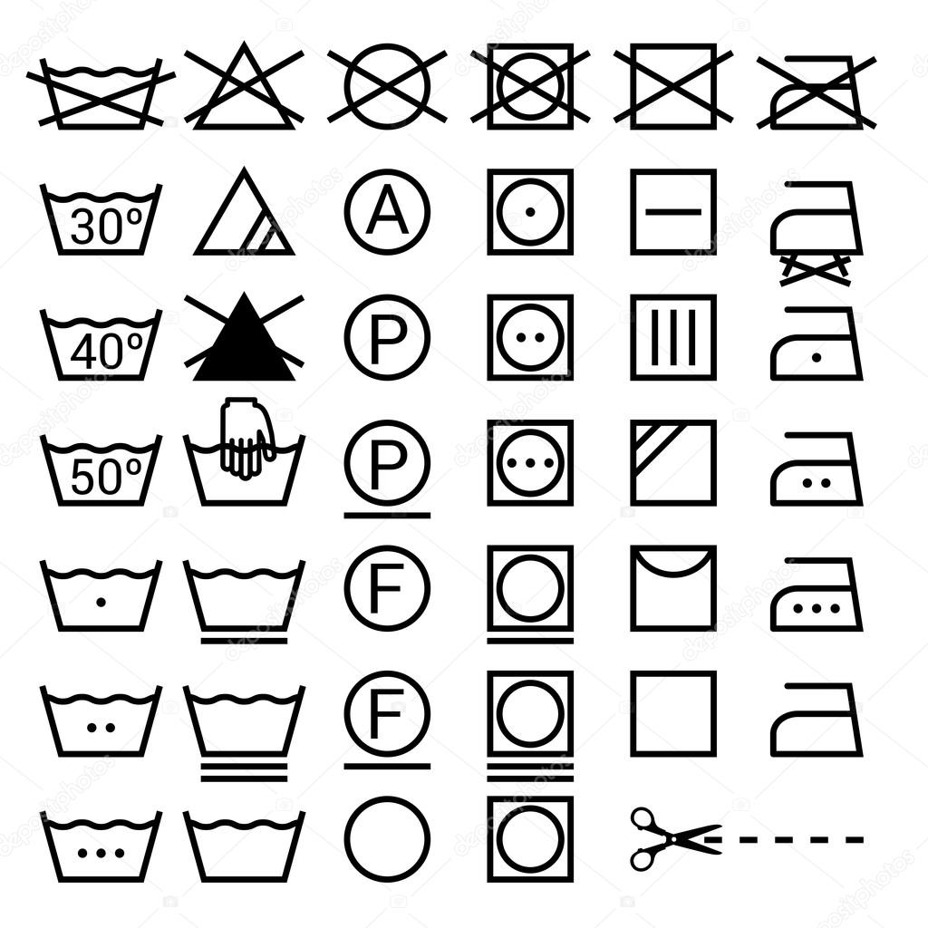 Set of washing symbols stock vector soniaeps 106482690 set of washing symbols laundry icons isolated on white background vector by soniaeps buycottarizona Gallery