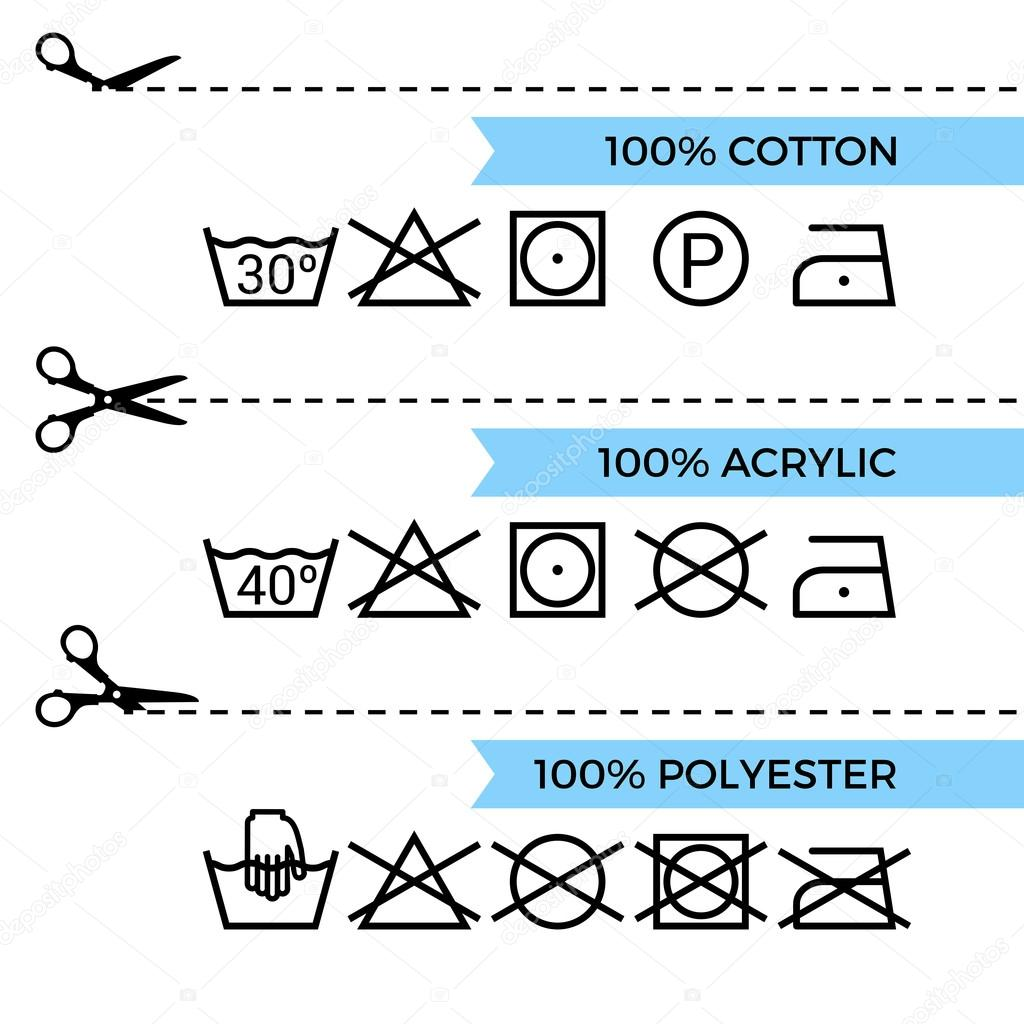 Guide To Laundry Care Symbols Stock Vector Soniaeps 106483236