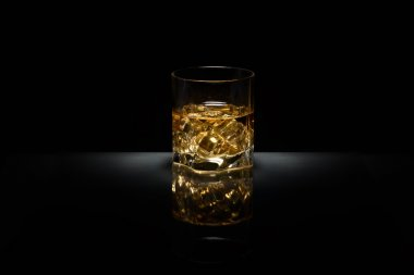 Luxury still life of whisky glass