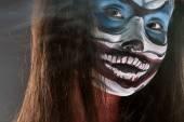 Fantazie hallowen tvoří. Zblízka střílel víla tvář umění