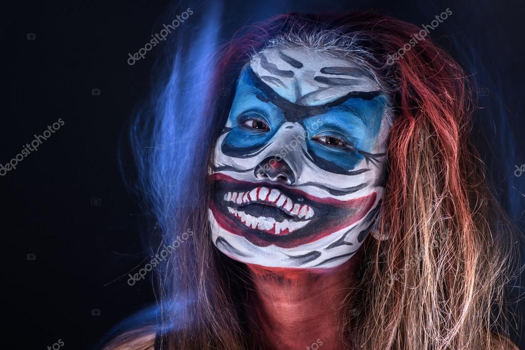 Fantasy hallowen make up. Close up shot of Fairy face art — Stock ...