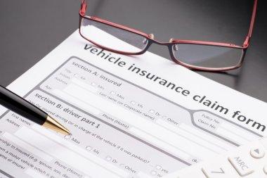 Vehicle insurance Claim Form