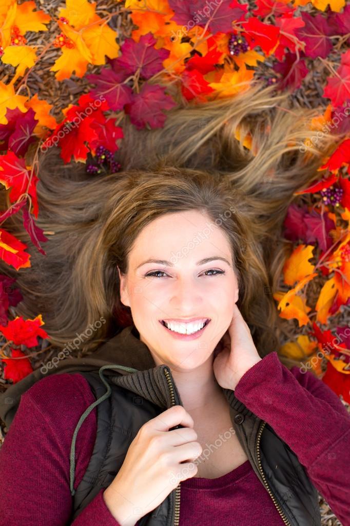 Autumn portrait woman