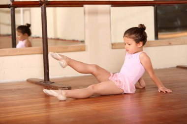 Little girl ballet dancer