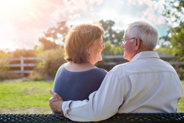 Mature senior couple