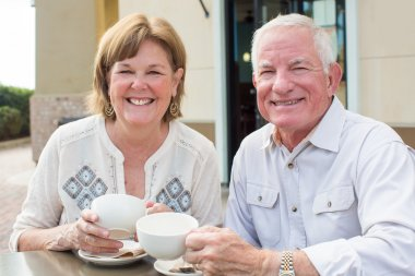 Mature couple coffee