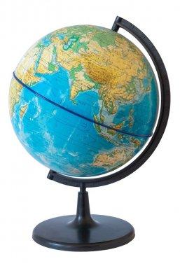 Globe. Physical map. Eastern hemisphere