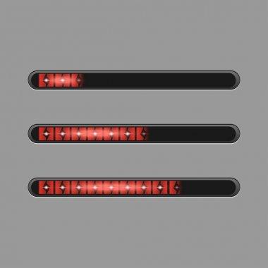 Red progress bars vector loading bars clip art vector