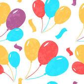 Fotografie Nahtlose Hintergrund mit farbigen fliegenden Ballons