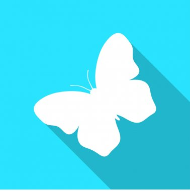 Vivid colors butterfly logo