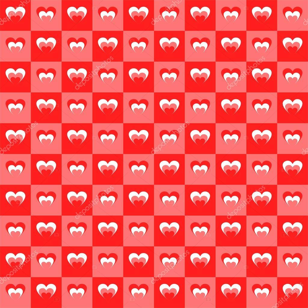 Valentine Hintergrund komponiert für Quadrate der beiden Farben rot ...