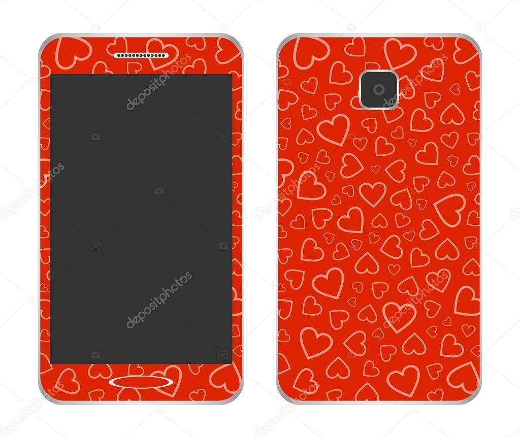 Conception De Telephone Portable Avec Un Rouge Une Cape