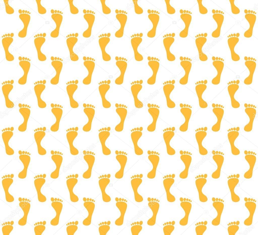 Hintergrund von orange Fußspuren des Gehens abwechselnd ...