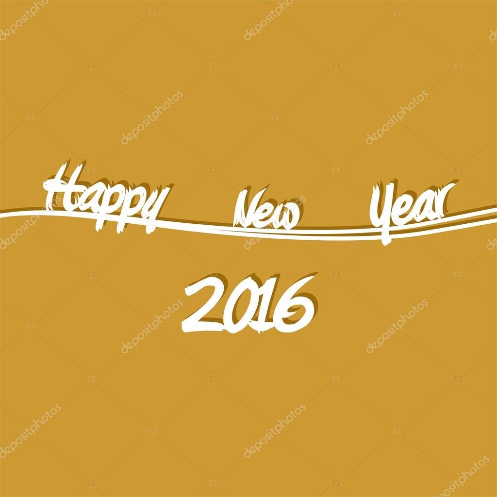 Golden New Year Grüße für 2016 mit weißem Schriftzug frohes neues ...