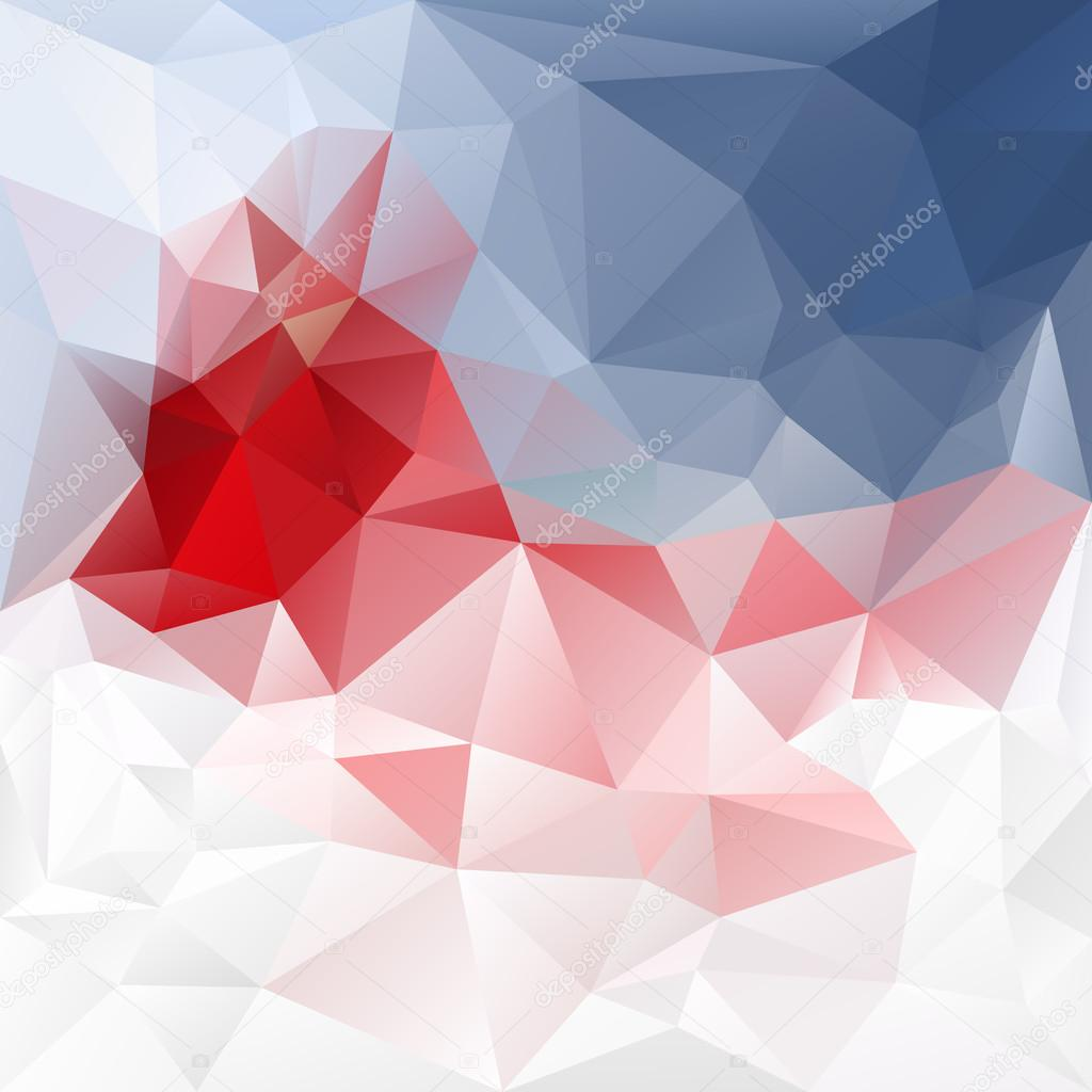 Vector Abstract Irregular Polygon Background With A