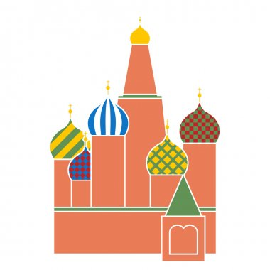 Saint basil cathedral in red square in Moscow