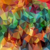 Fotografie Vector polygonal background pattern - triangular design in spring colors - full color