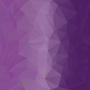 Vector polygonal background with pattern - triangular design in violet colors - purple