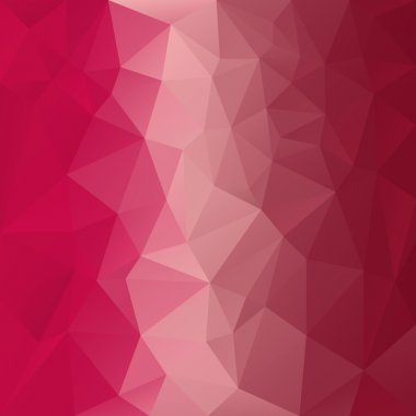 Vector polygonal background with pattern - triangular design in red colors - pink, magenta