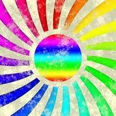 Duha slunné slunce symbolem vzorku textury