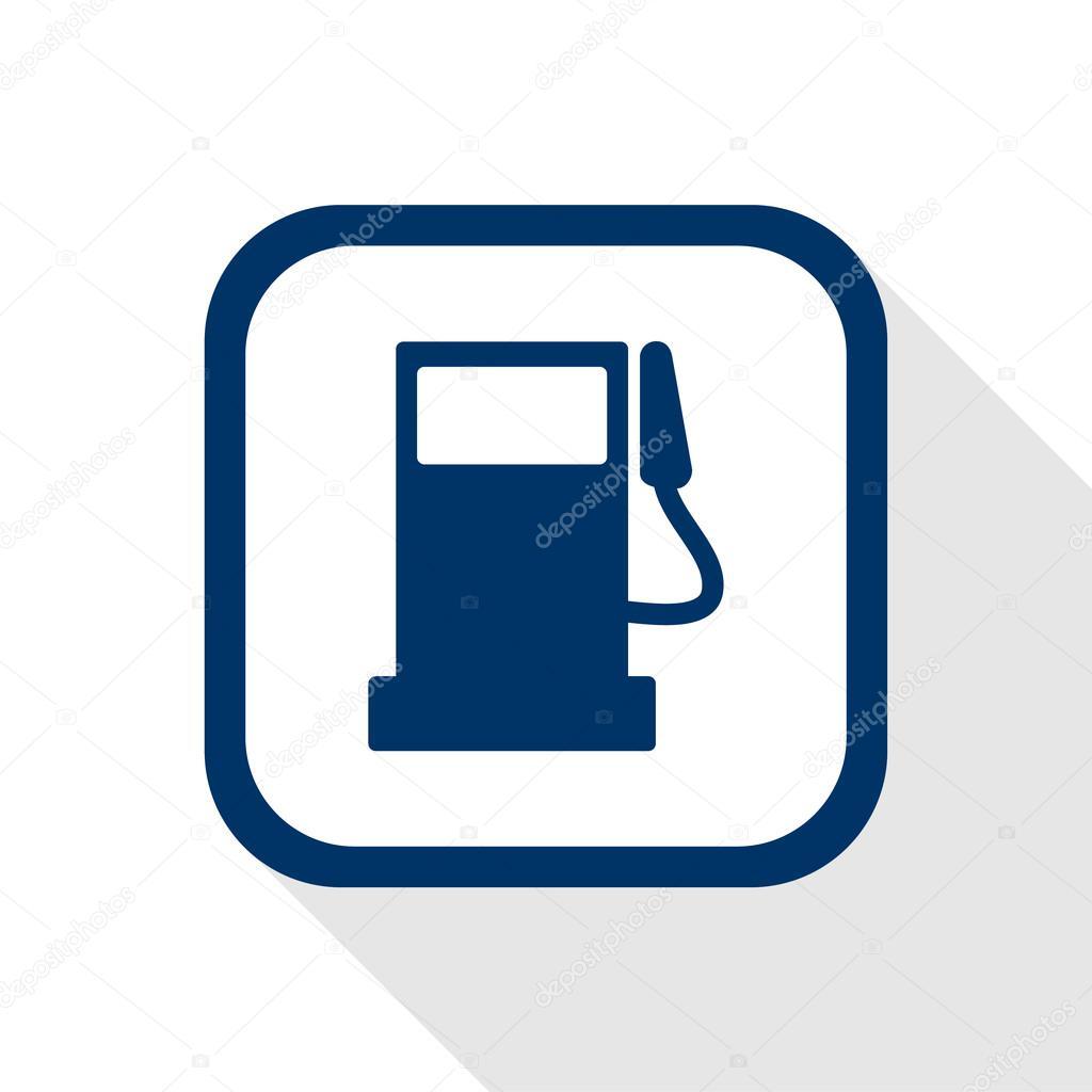 Donker blauwe pictogram brandstof pomp station met lange for Vierkant zwembad met pomp