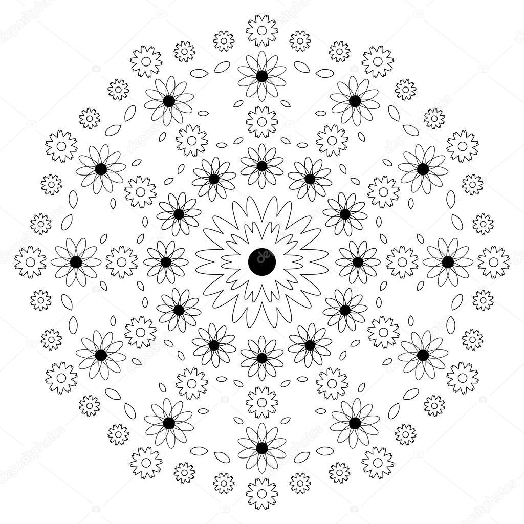 Adulte De Vecteur Coloriage Motif Circulaire De Page Livre