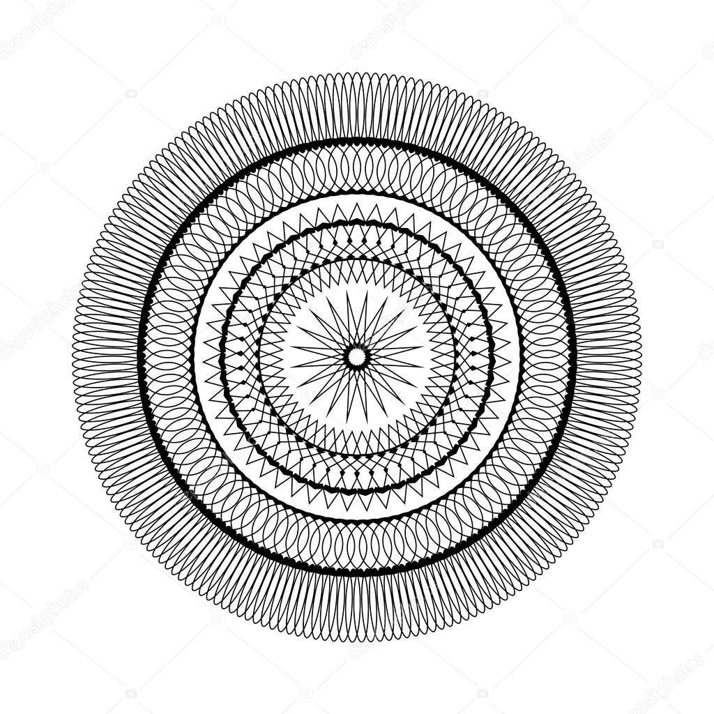 Vector de adulto para colorear libro página patrón circular mandala ...
