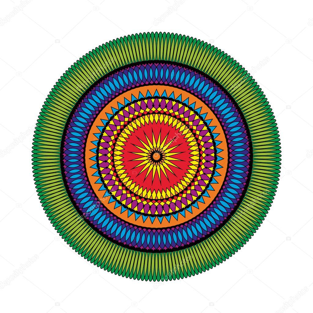 Vector adulto para colorear libro página patrón circular mandala ...
