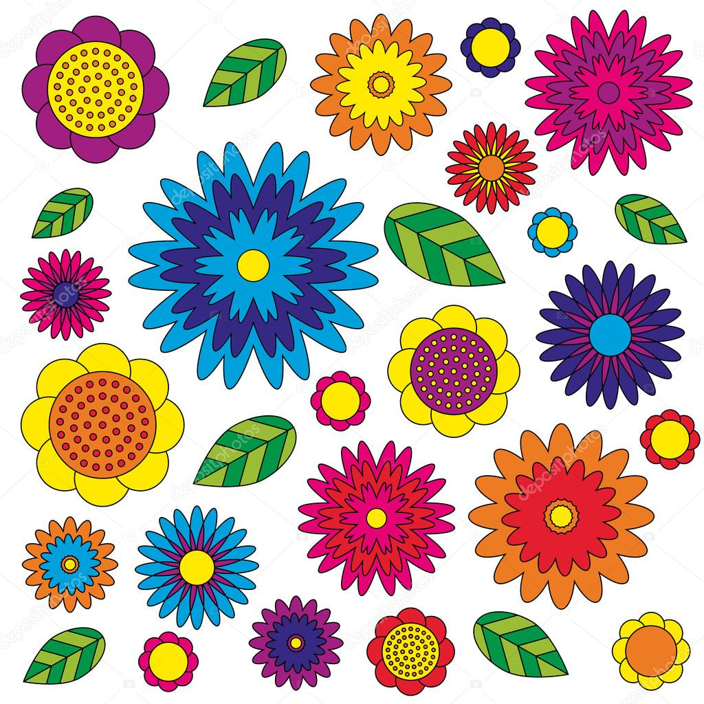 Vector Adult Coloring Book Page Irregular Floral Pattern Colored