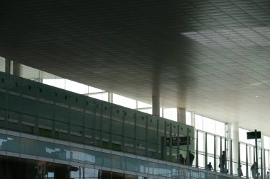 Interior of an international airport
