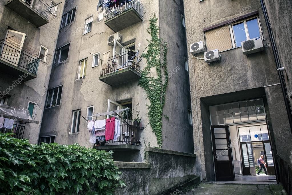 Typical Zagreb building backyard