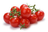 Fotografie Zralé heirloom Cherry rajčátky na vinné révy