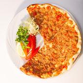 Photo Fresh lahmacun turkish pizza