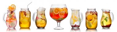 Collection of different drinks