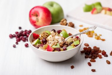 Cranberry raisins apple cereal